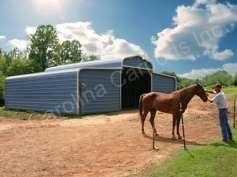 Horse Barn with Horizontal Gable Ends-306