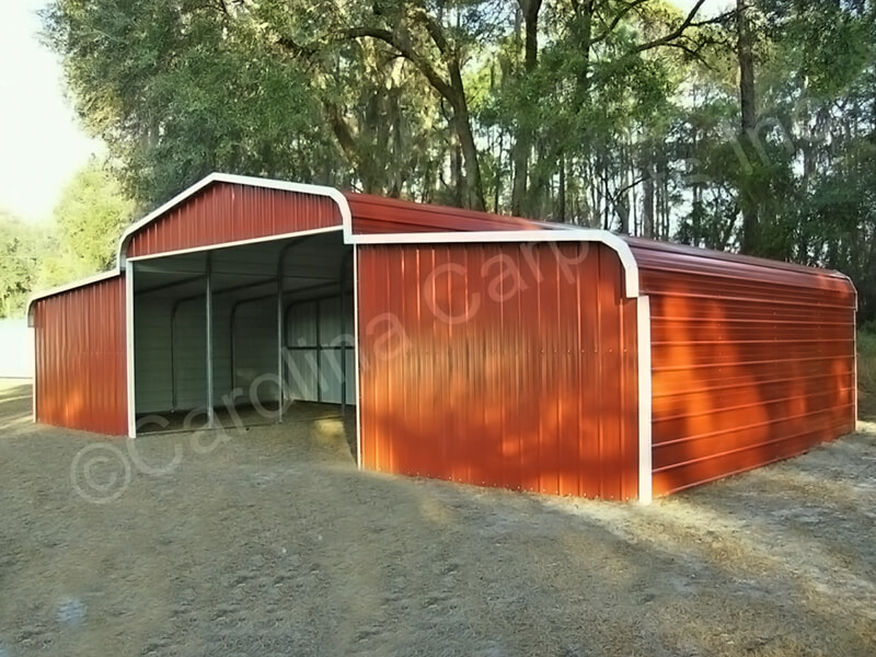 Regular Roof Horse Barn with Vertical Ends