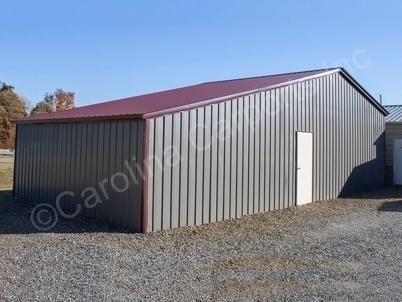All Vertical Roof Seneca Barn Fully Enclosed-332