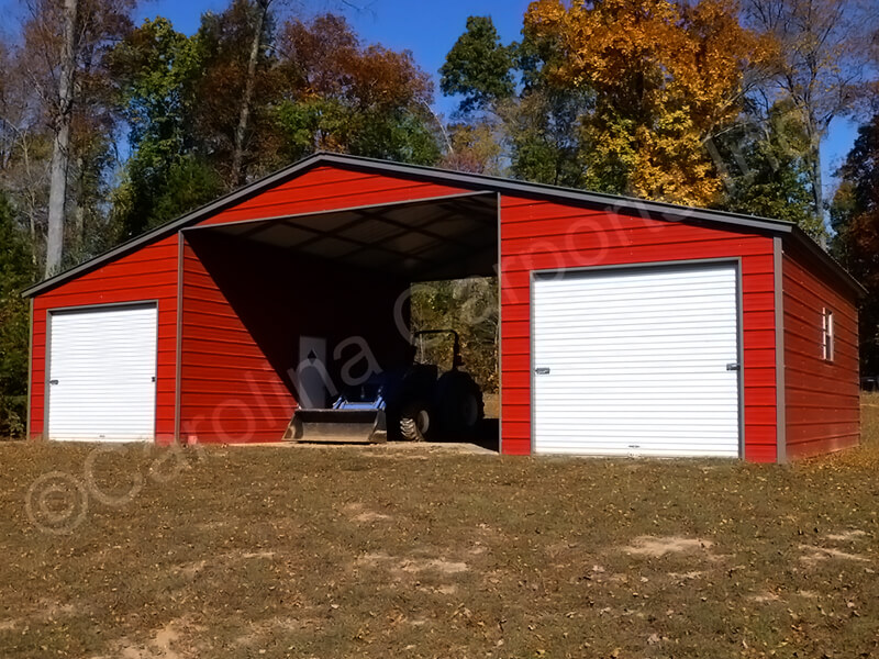 Seneca Barn Two Fully Enclosed Lean To's-337