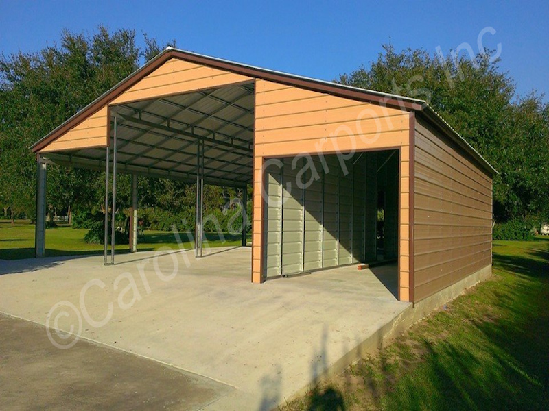 Barn with One Fully Enclosed Lean Too-378
