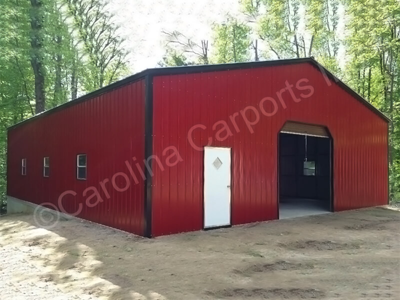 Vertical Fully Enclosed with 9'x8' Garage Door-351