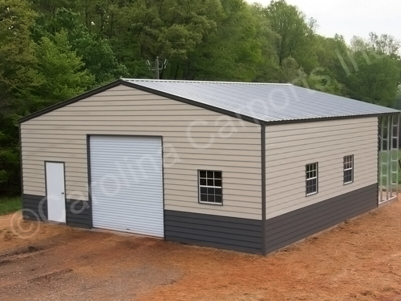 Two Toned Building with Lap Siding-356