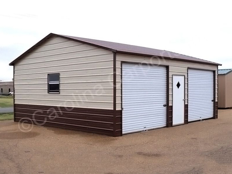 Two Tone Color Enclosed Garage