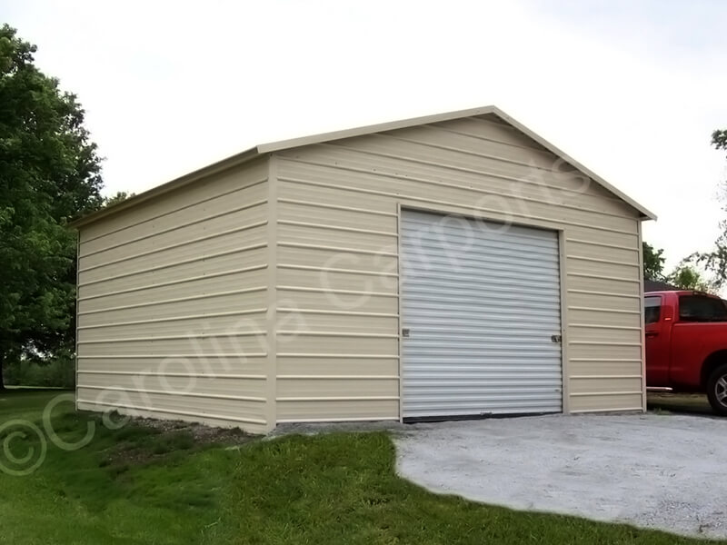 Boxed Eave Garage with One Garage Door