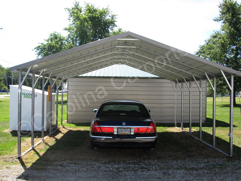 Top Only Boxed Eave Carport-242