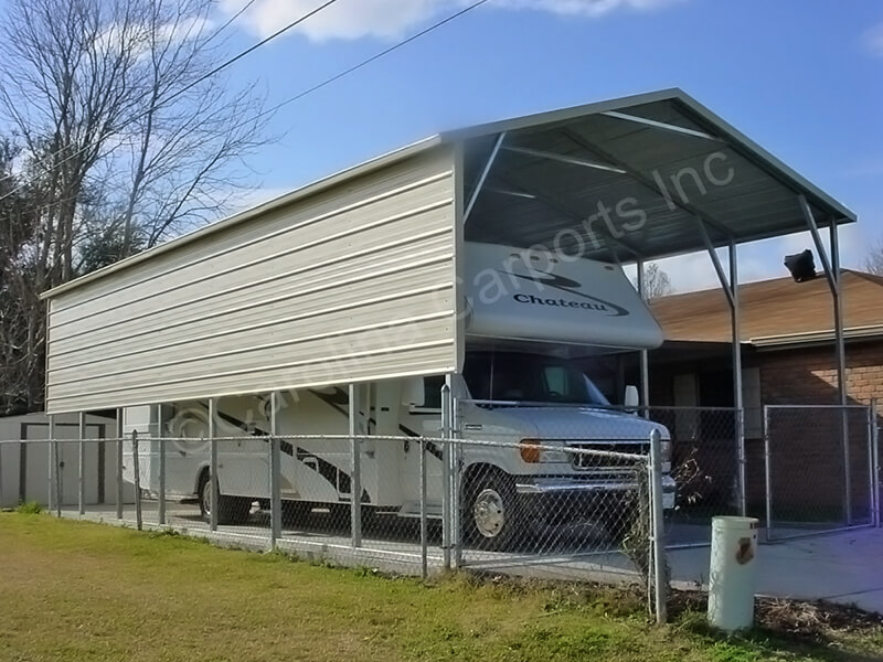 RV Carport Boxed Eave Style Two Panels-255