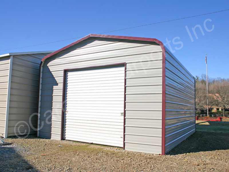 Garage with One 9x8 Garage Door on End