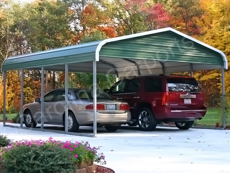 Regular Style Double Vehicle Carport-262