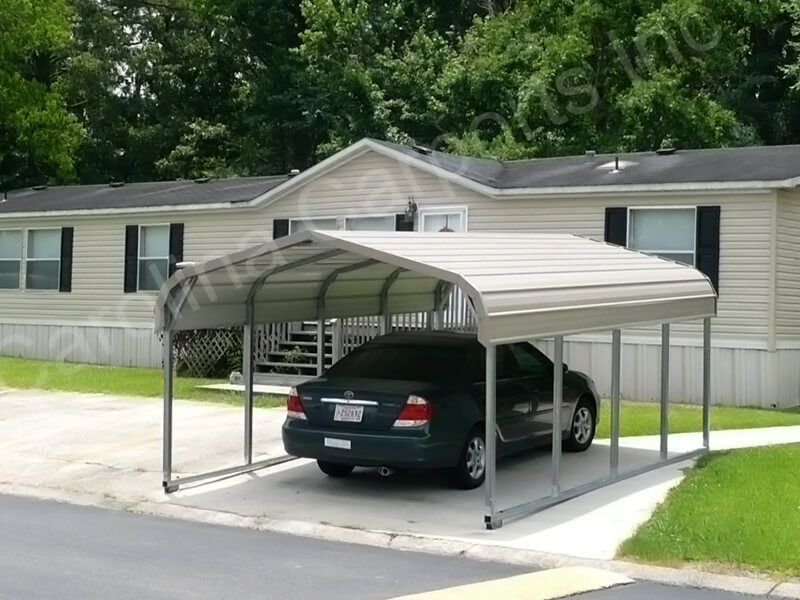 Regular Style Single Wide Carport-263