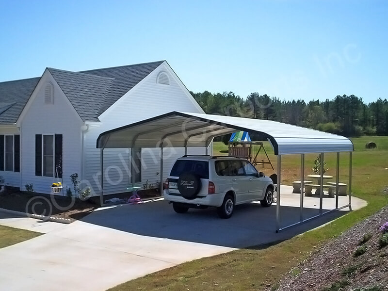 Regular Style Top Only 2 Car Carport-264