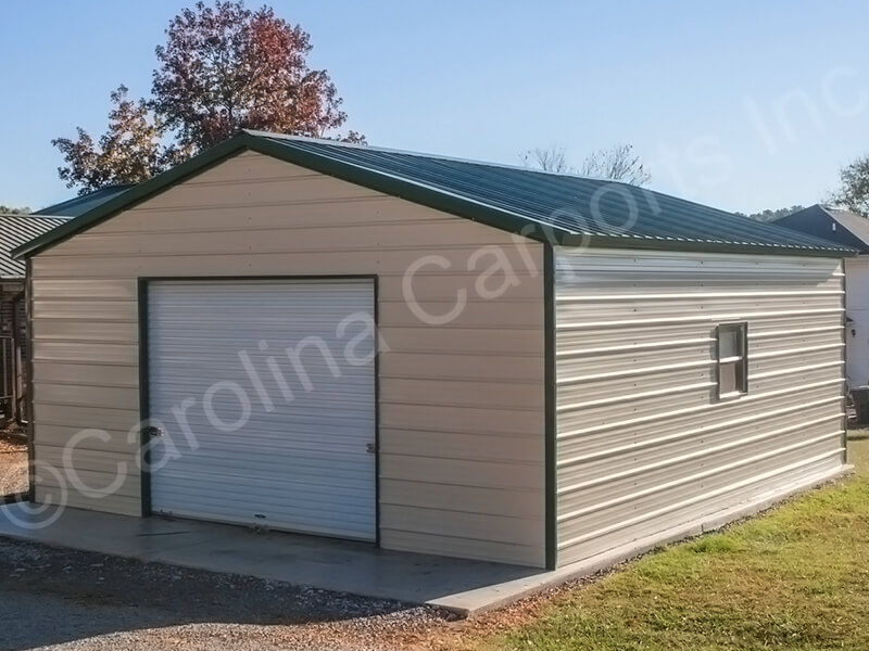 Vertical Roof Style Fully Enclosed Garage