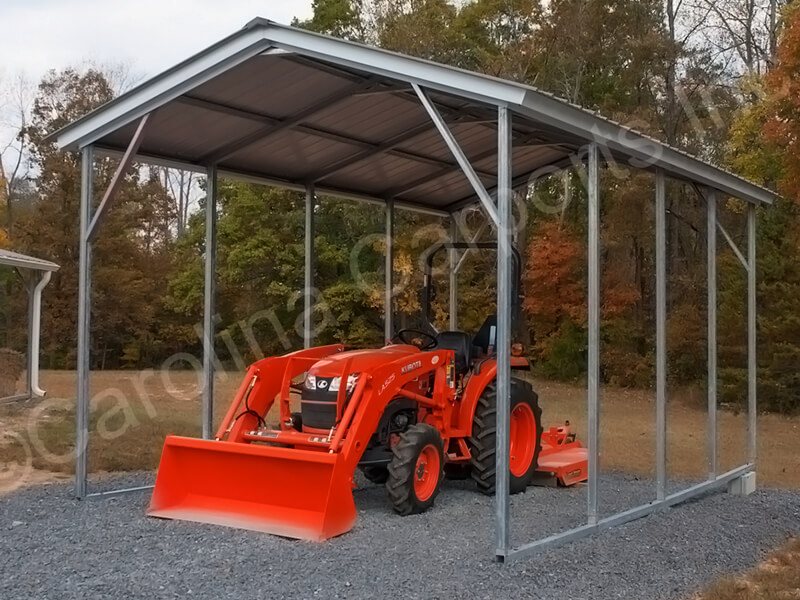Vertical Roof Carport with 4' Braces-272