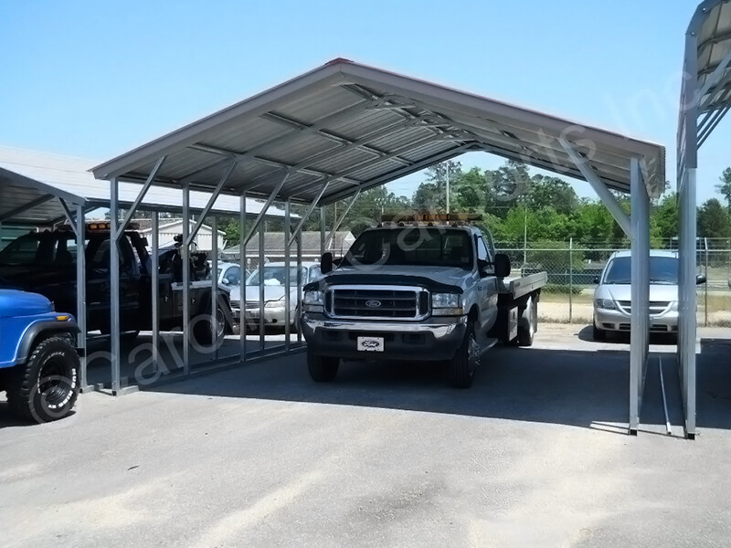 Vertical Roof Style 2 Car Carport-275