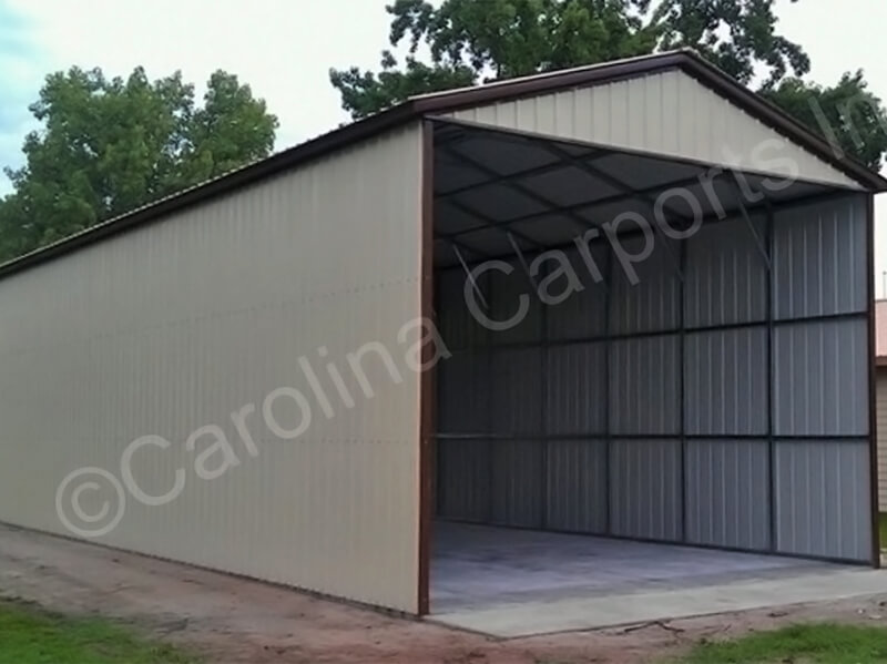 All Vertical Style Enclosed Carport