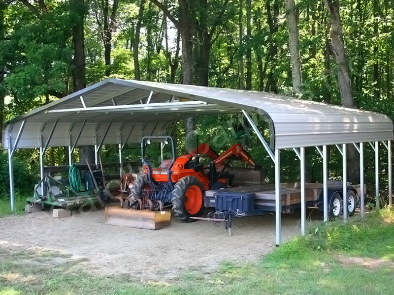 Regular Roof Style Triple Wide Carport-287