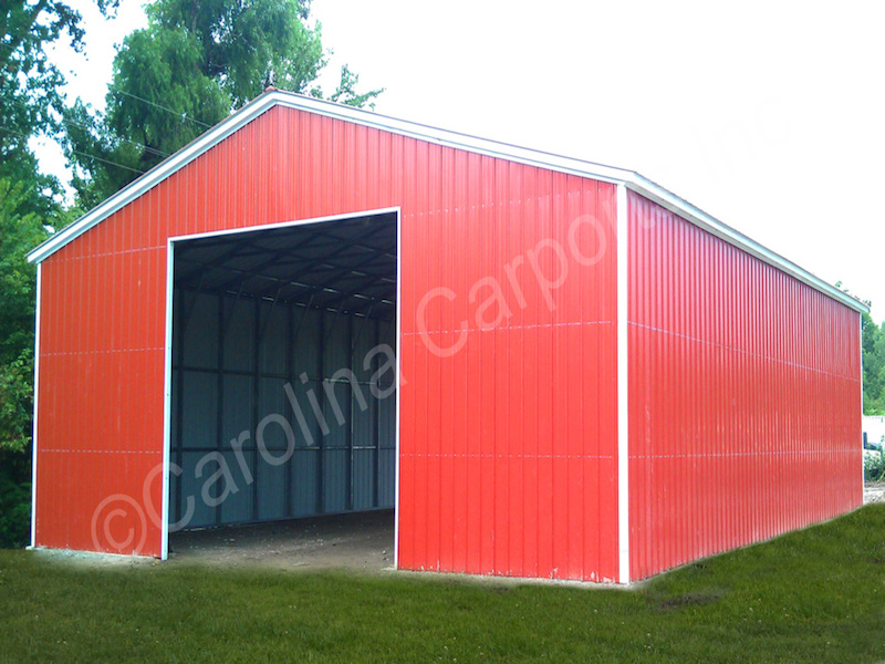 Garage with Garage Door Frame Out
