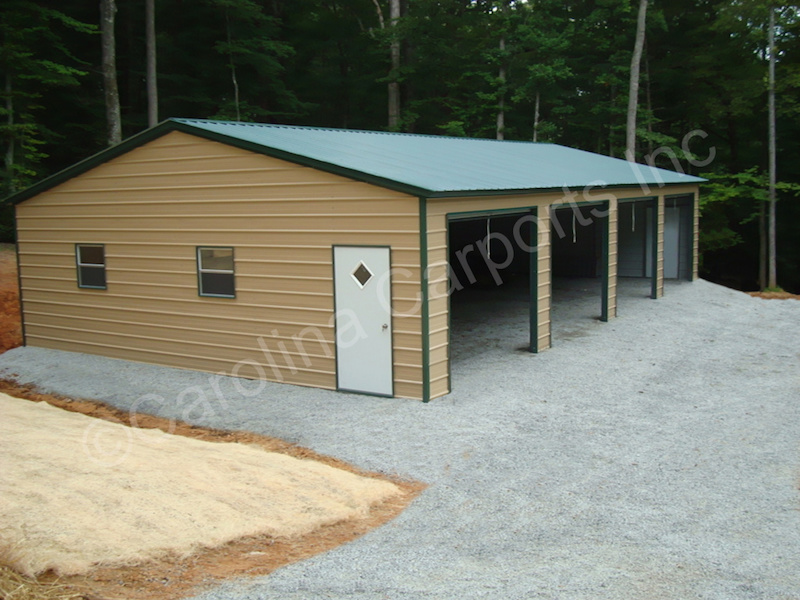 Four 9x8 Garage Doors on Side-422